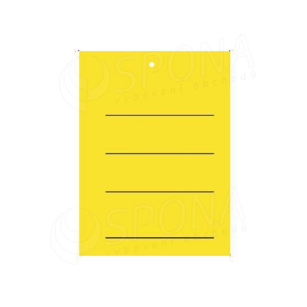Visačky 3040 s potlačou, žlté, 2.000 ks