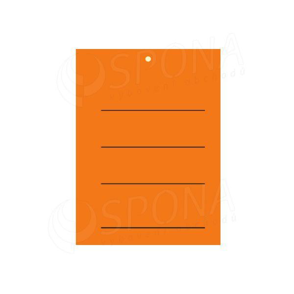 Visačky 3040 s tlačou oranžové, 2.000 ks