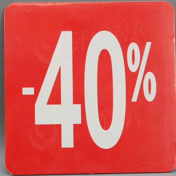 Visačky SKONTO ŠTVOREC 240, -40%, červené, 10 ks