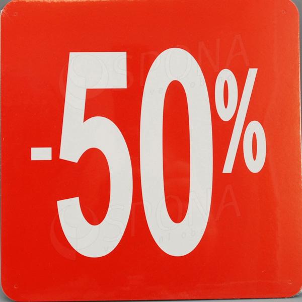Visačky SKONTO ŠTVOREC 240, -50%, červené, 10 ks