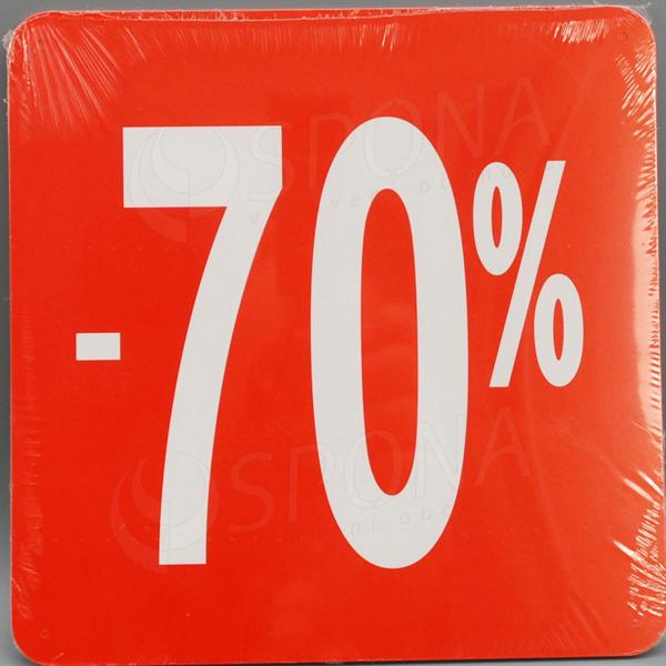Visačky SKONTO ŠTVOREC 240, -70%, červené, 10 ks
