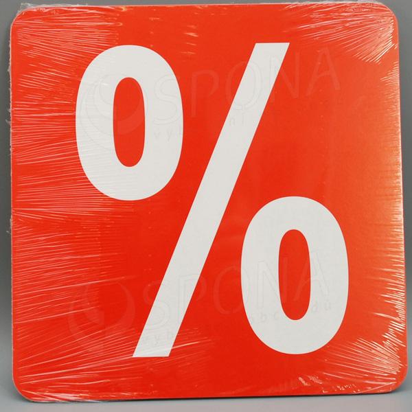 Visačky SKONTO ŠTVOREC 240, PERCENTO %, červené, 10 ks