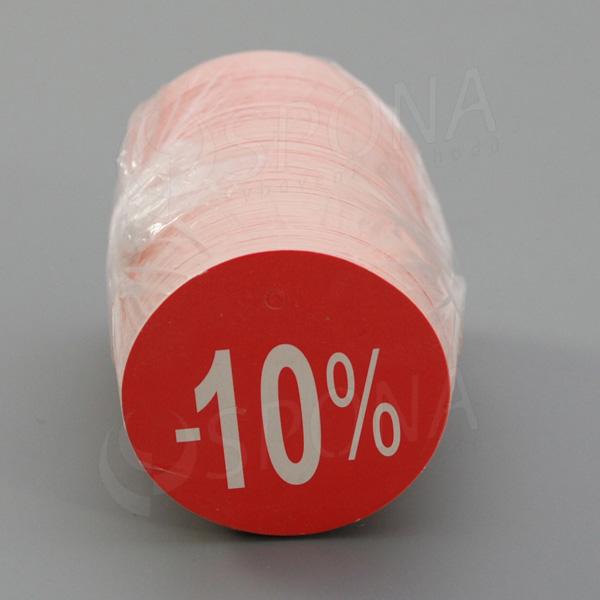 Visačky SKONTO KRUH 45, -10%, červené, 180 ks