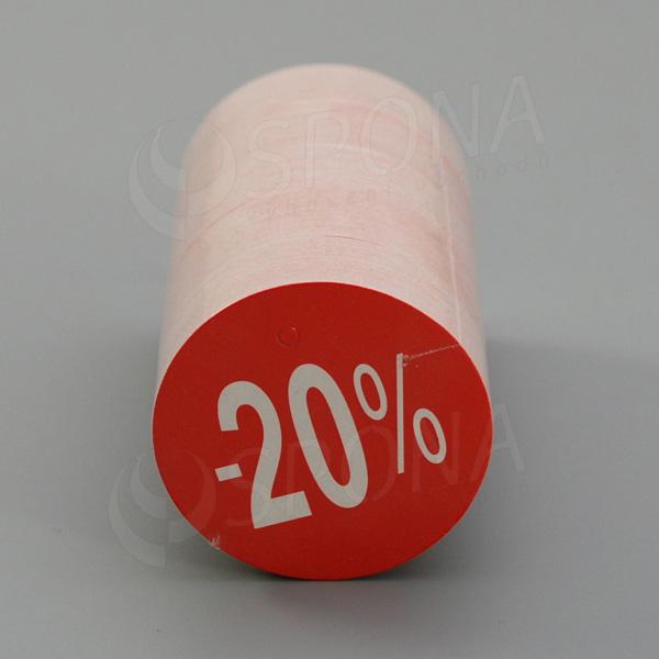 Visačky SKONTO KRUH 45, -20%, červené, 180 ks