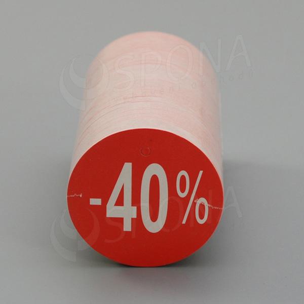 Visačky SKONTO KRUH 45, -40%, červené, 180 ks