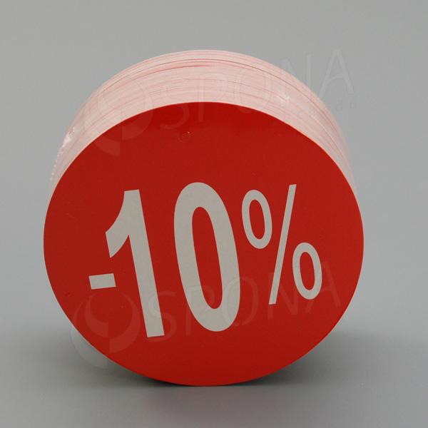 Visačky SKONTO KRUH 80, -10%, červené, 80 ks