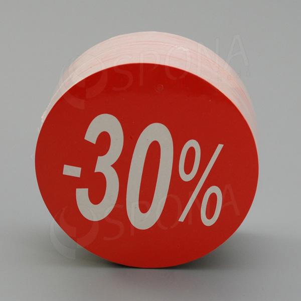 Visačky SKONTO KRUH 80, -30%, červené, 80 ks