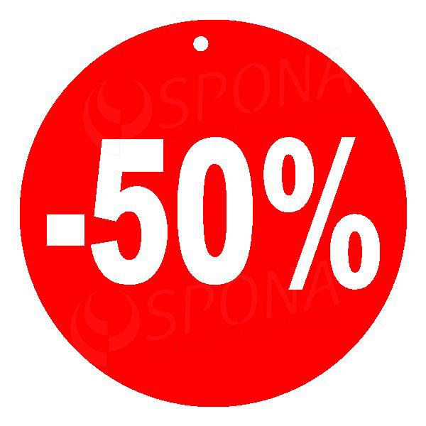 Visačky SKONTO KRUH 80, -50%, červené, 80 ks