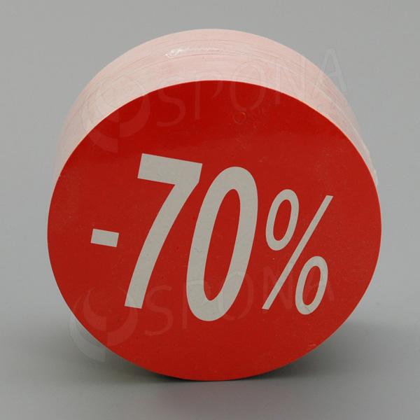 Visačky SKONTO KRUH 80, -70%, červené, 80 ks