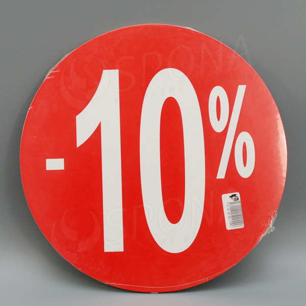Visačky SKONTO KRUH 240, -10%, červené, 10 ks