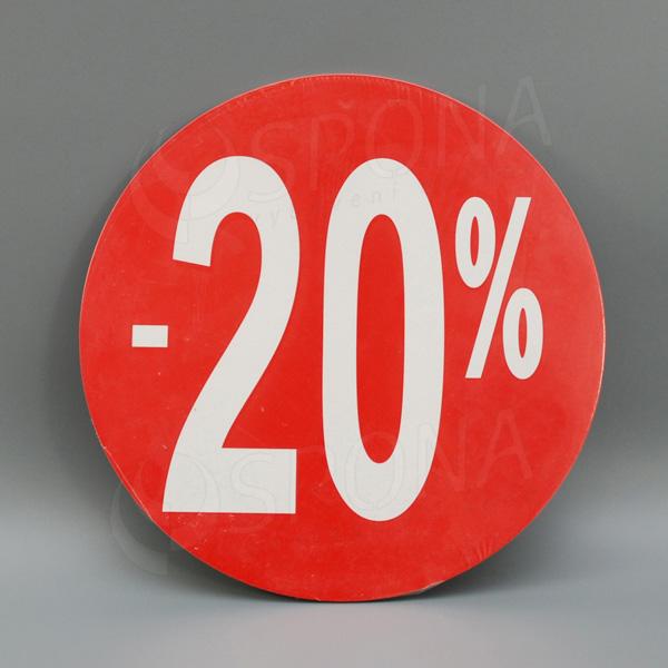 Visačky SKONTO KRUH 240, -20%, červené, 10 ks