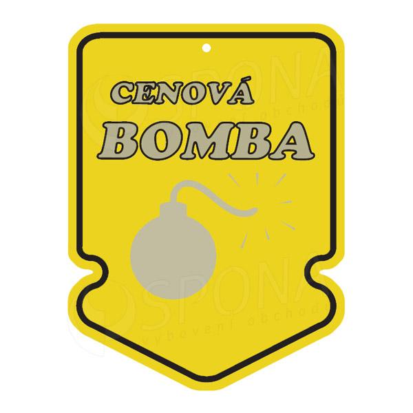 Visačky SKONTO ŠÍPKA 43 x 60, CENOVÁ BOMBA, žlté, 250 ks