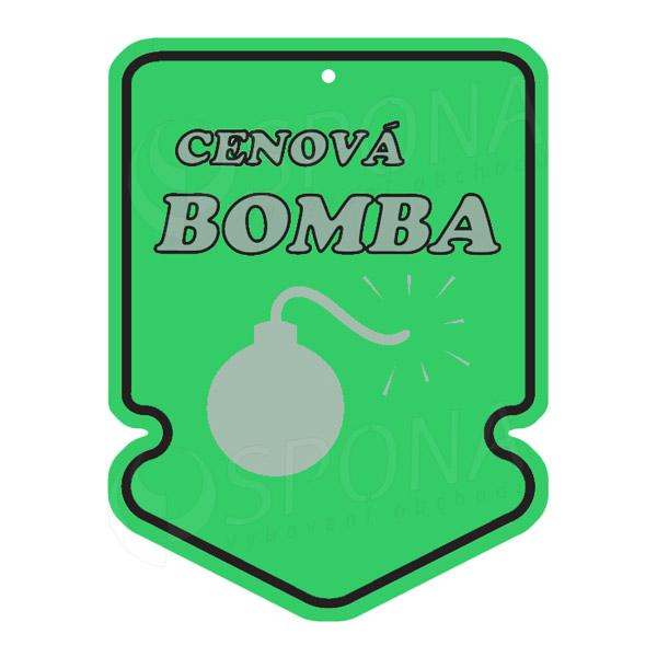 Visačky SKONTO ŠÍPKA 43 x 60, CENOVÁ BOMBA, zelené, 250 ks