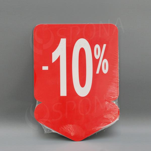 Visačky SKONTO ŠÍPKA 240 x 330, -10%, červené, 10 ks