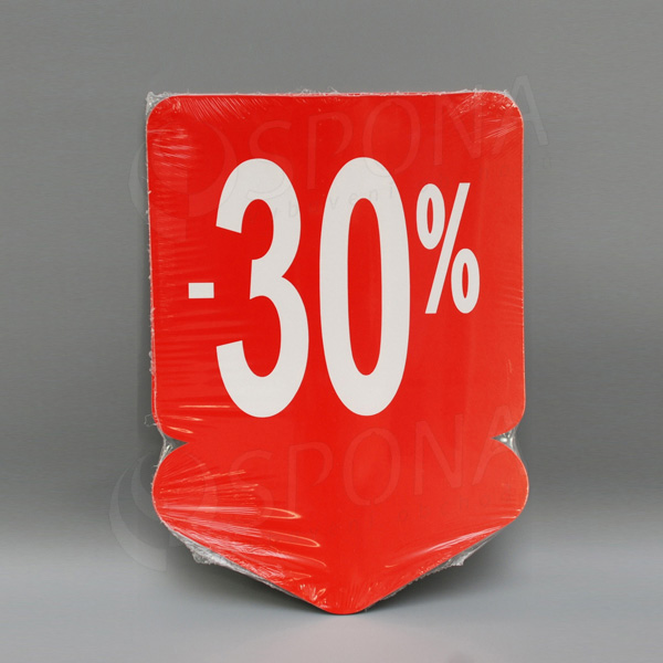 Visačky SKONTO ŠÍPKA 240 x 330, -30%, červené, 10 ks