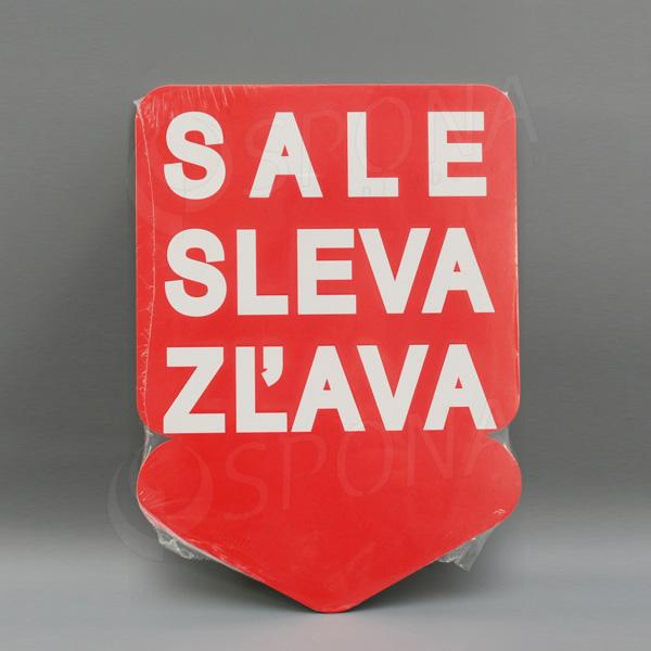 Visačky SKONTO ŠÍPKA 240 x 330, SALE, červené, 10 ks