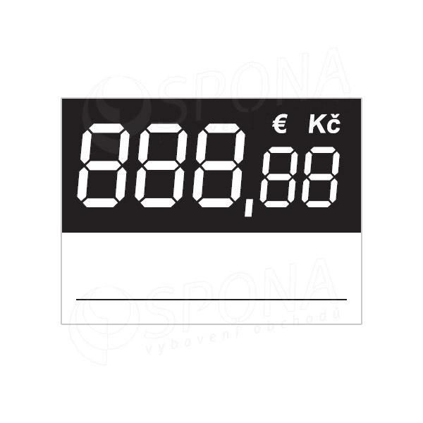 Cenovky 3537 s Eurom regál, 100 ks
