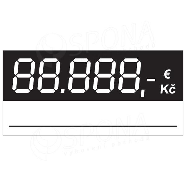 Cenovky 5837 regál, 100 ks