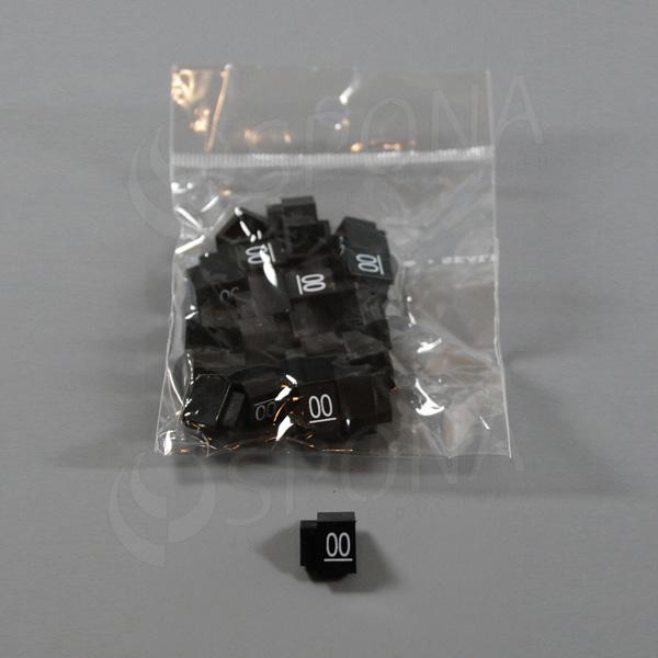 Cenovky Q 3, 6 x 9 mm, náhradné číslo 00, 20 ks