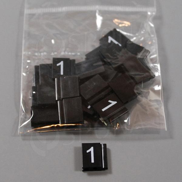 Cenovky Q 6, 8 x 12 mm, náhradné číslo 1, 20 ks