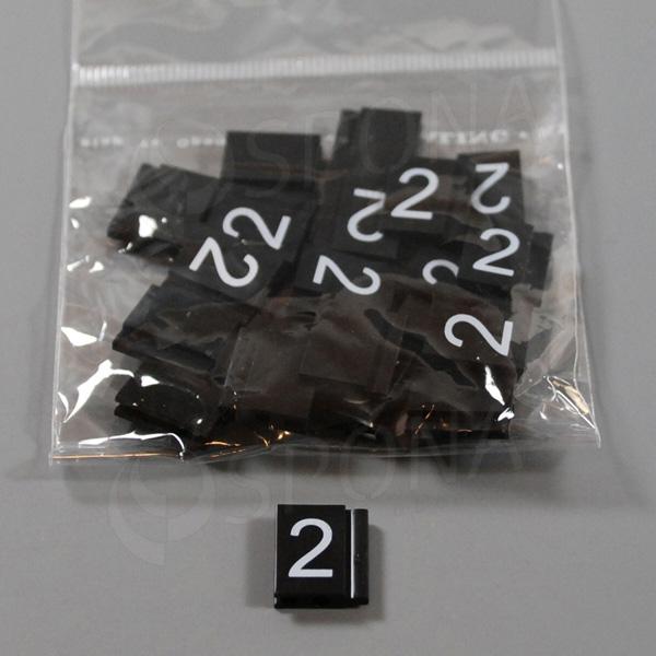 Cenovky Q 6, 8 x 12 mm, náhradné číslo 2, 20 ks