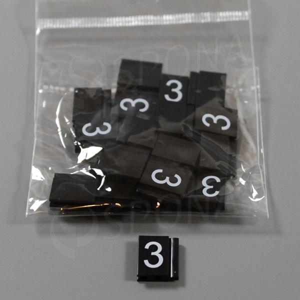 Cenovky Q 6, 8 x 12 mm, náhradné číslo 3, 20 ks