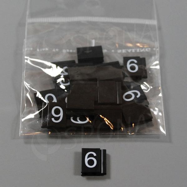Cenovky Q 6, 8 x 12 mm, náhradné číslo 6, 20 ks