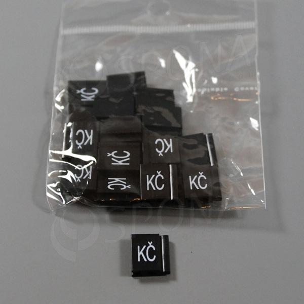 Cenovky Q 6, 8 x 12 mm, náhradné číslo Kč, 20 ks