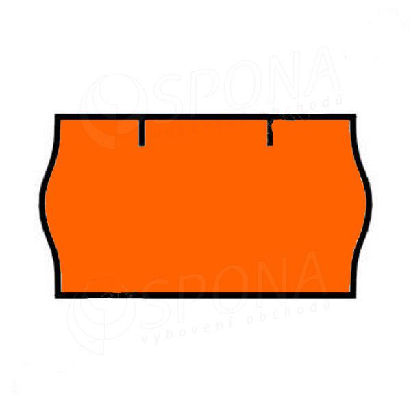 Etikety do klieští CONTACT, zaoblené, 22 x 12 mm, oranžové