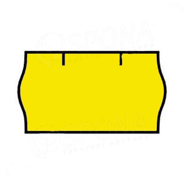 Etikety do klieští CONTACT, zaoblené, 22 x 12 mm, žlté