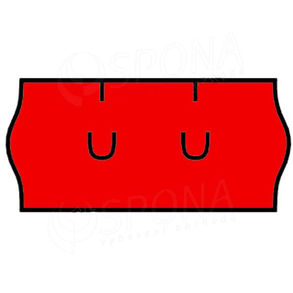 Etikety do kliešti, UNI 26 x 12, červené