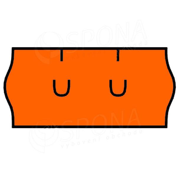 Etikety do kliešti, UNI 26 x 12, oranžové
