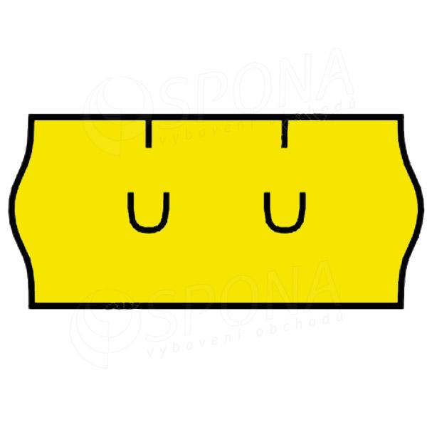 Etikety do klieští UNI, zaoblené, 26 x 12 mm, žlté
