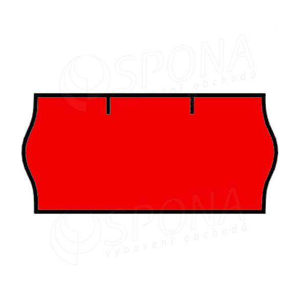 Etikety do klieští CONTACT, zaoblené, 26 x 12 mm, červené