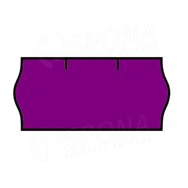 Etikety do klieští CONTACT, zaoblené, 26 x 12 mm, fialové