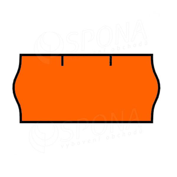 Etikety do klieští CONTACT, zaoblené, 26 x 12 mm, oranžové