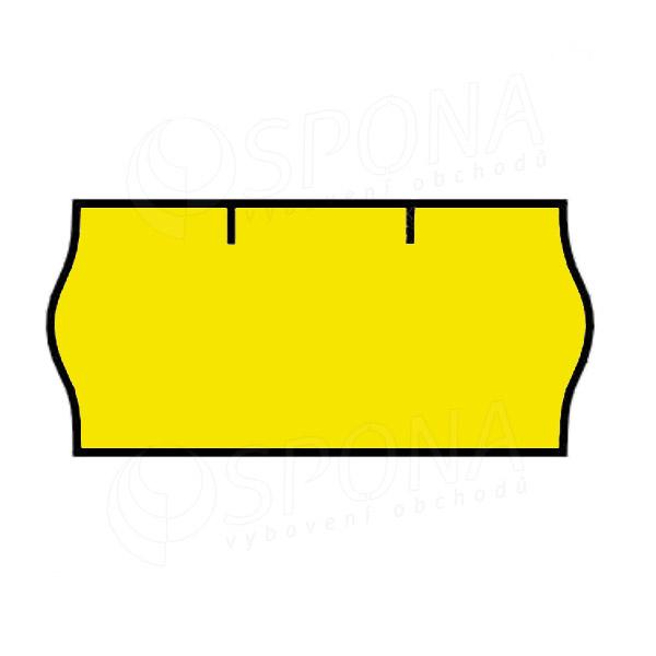 Etikety do klieští CONTACT, zaoblené, 26 x 12 mm, žlté