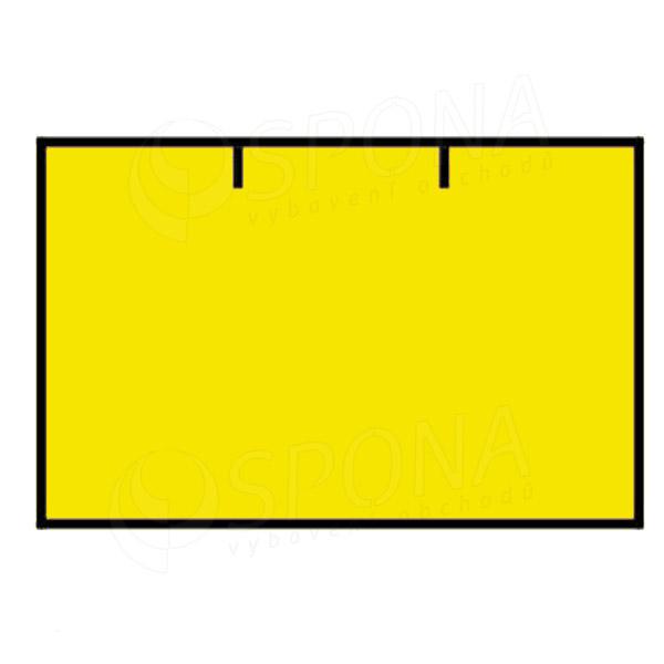 Etikety do klieští CONTACT, rovné, 25 x 16 mm, žlté