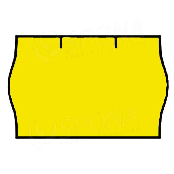 Etikety do kliešti, CONTACT 25 x 16, guľaté, žlté