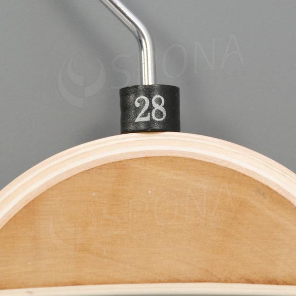 Minireitery 28, 25 ks, čierne, strieborná tlač