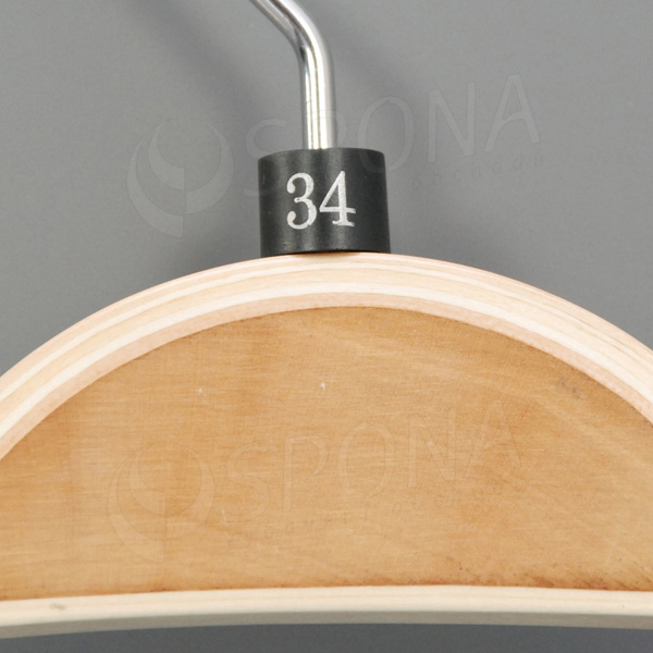 Minireitery 34, 25 ks, čierne, strieborná potlač