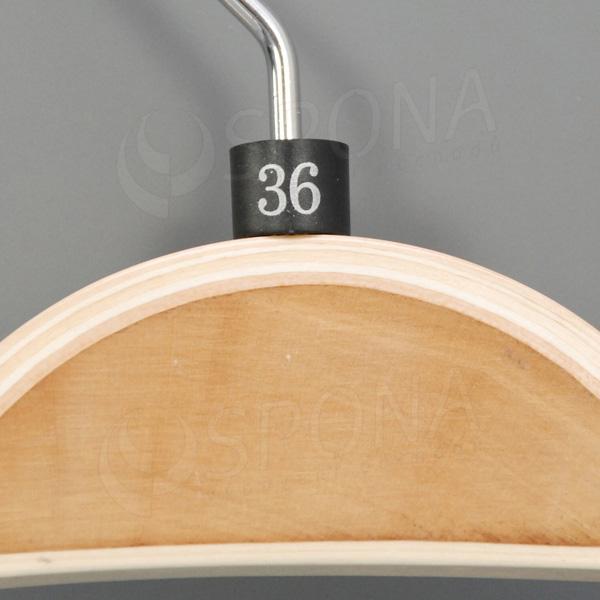 Minireitery 36, 25 ks, čierne, strieborná potlač