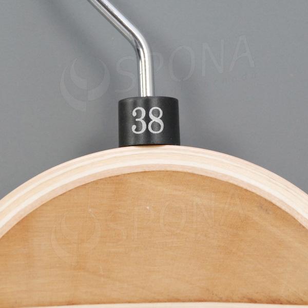 Minireitery 38, 25 ks, čierne, strieborná potlač