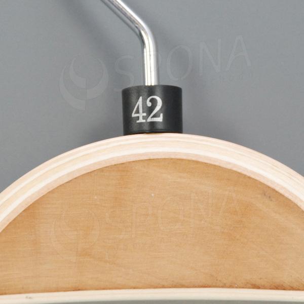Minireitery 42, 25 ks, čierne, strieborná potlač