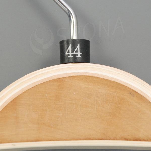 Minireitery 44, 25 ks, čierne, strieborná potlač