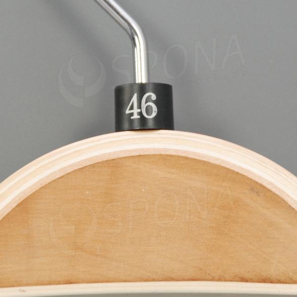 Minireitery 46, 25 ks, čierne, strieborná tlač