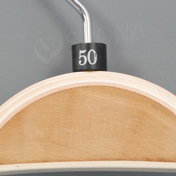 Minireitery 50, 25 ks, čierne, strieborná potlač