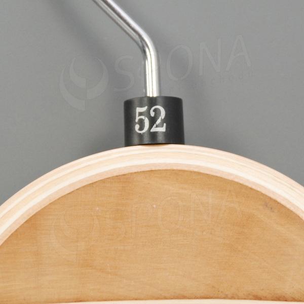 Minireitery 52, 25 ks, čierne, strieborná potlač