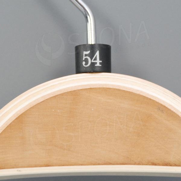 Minireitery 54, 25 ks, čierne, strieborná tlač