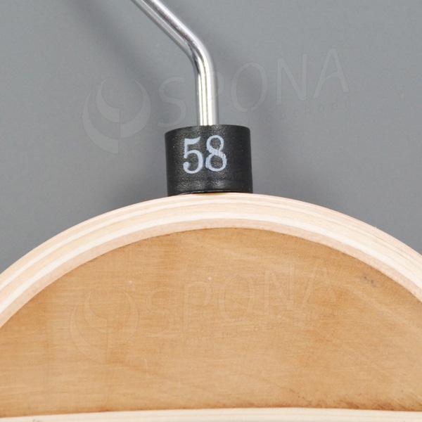Minireitery 58, 25 ks, čierne, biela tlač